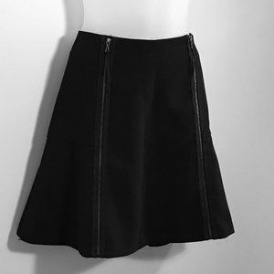 Leifsdottir Black Edgy Skater Skirt w/ Zippers